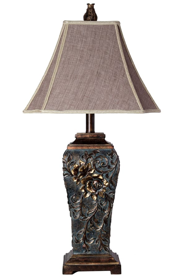 Compton  Dark Blue Finish Table Lamp