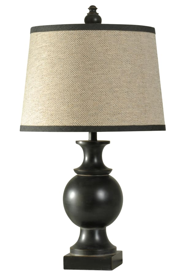 Noir Black Finish  Table Lamp
