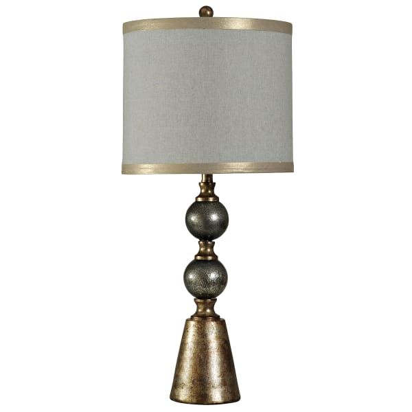 Cold River Contemporary Black Glass And Gold Finish Table Lamp