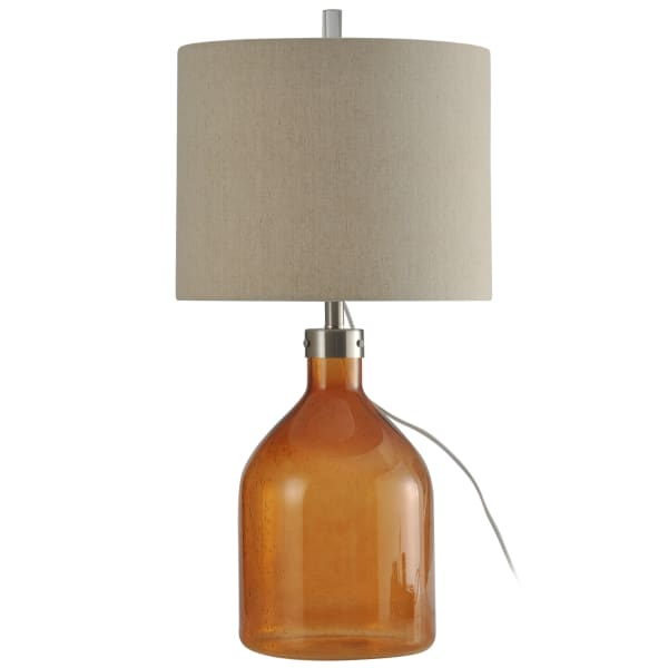Amber Finish Table Lamp