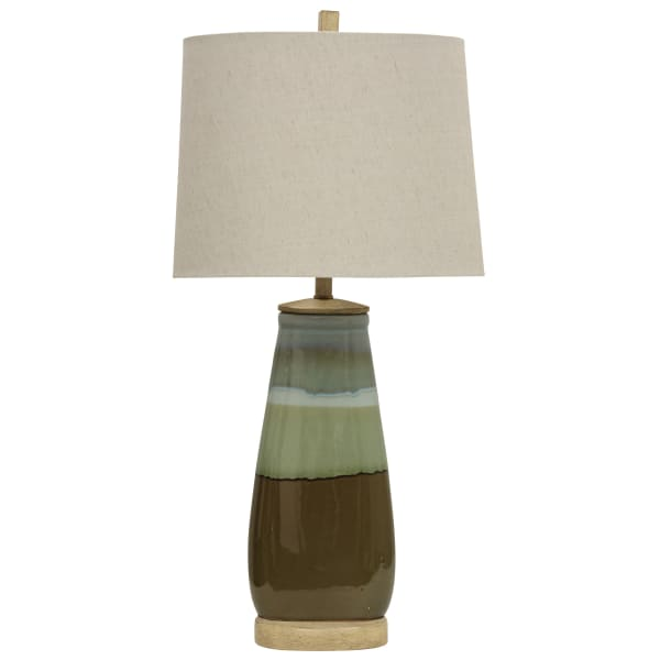 Millville Reactive Glaze Ceramic Millville Finish Table Lamp