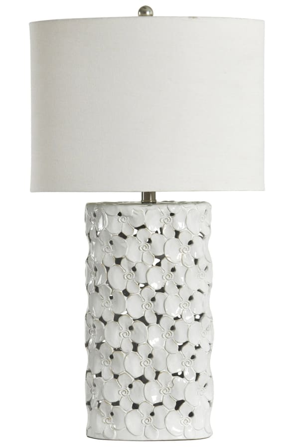 Halifax Ceramic White Glaze Finish Table Lamp