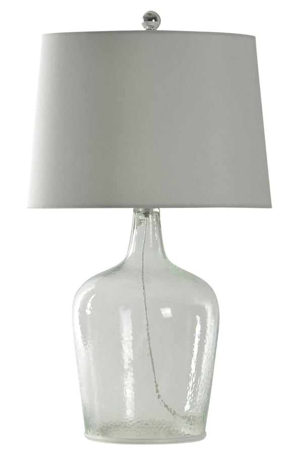 Incognito Seeded Clear Glass Finish Table Lamp