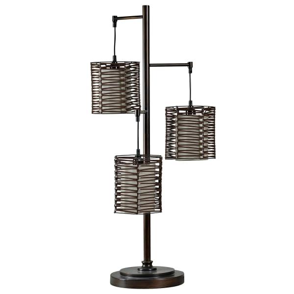 Contemporary Bronze Finish Table Lamp