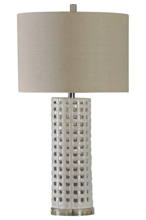 Luxemburg Ceramic  White Glaze Finish Table Lamp