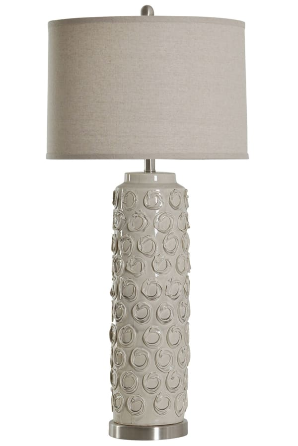 Ceramic Bella Cream Finish Table Lamp