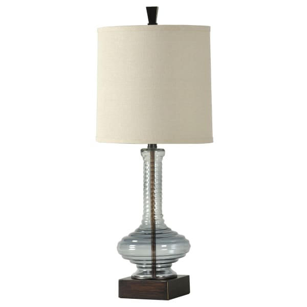 Opaque Blue Finish Table Lamp