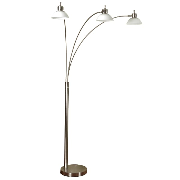 Brushed Steel Finish Floor Lamp