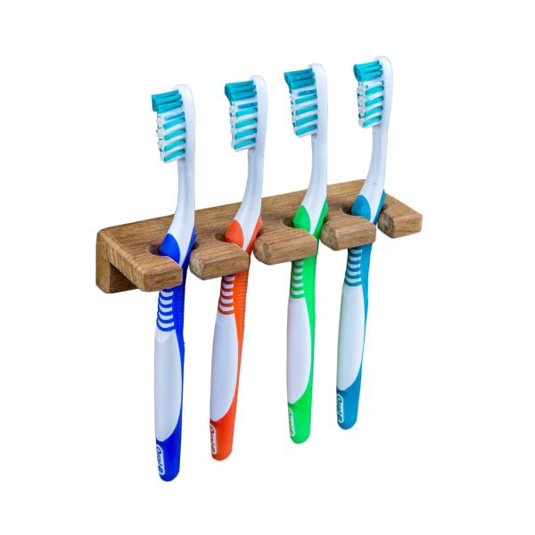Teak Wall Mount Toothbrush Holder