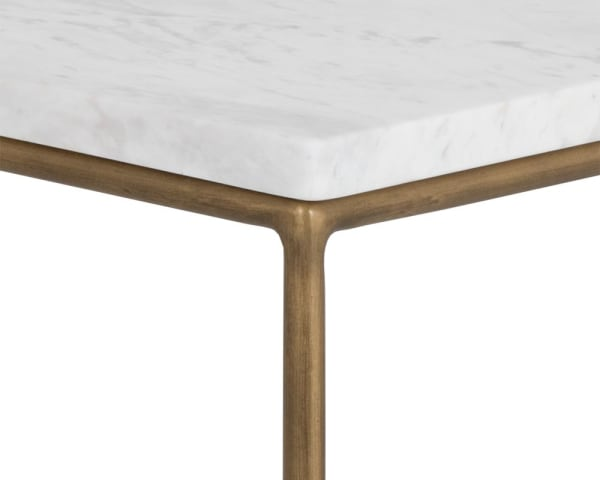 Tribute White Marble End Table