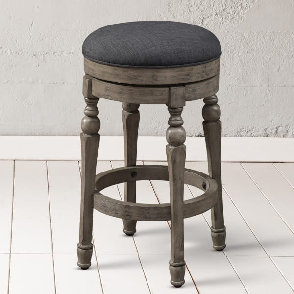 Millcreek Charcoal 26-inch Solid Wood Backless Swivel Counter Stool