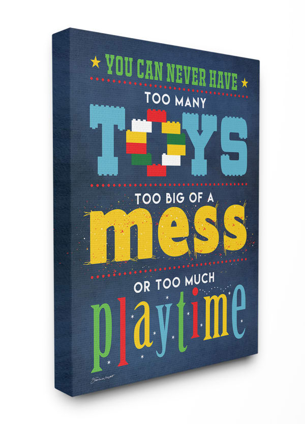 Too Much Playtime Wall Art