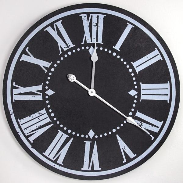 Oversized Vintage MDF Hanging Wall Clock