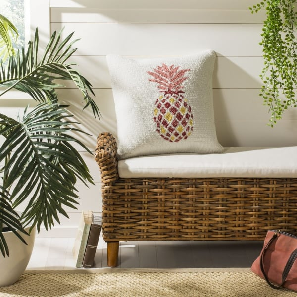 Pure Pineapple Red Pillow Pier 1