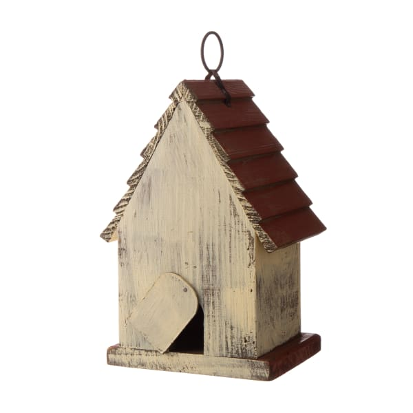 Distressed Solid Wood Birdhouse