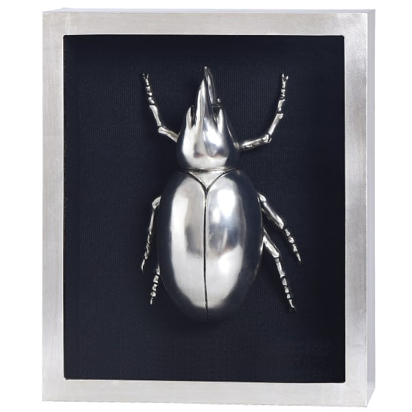 Silver Beetle II Shadow Box Framed Wall Art