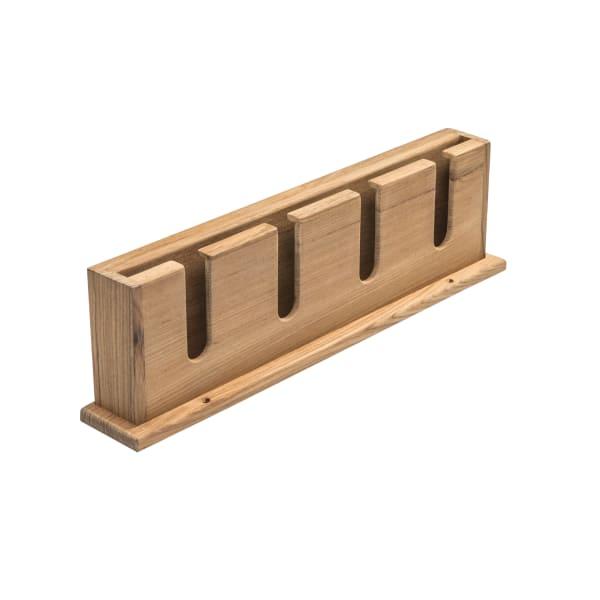 Teak Wineglass Rack with Shelf