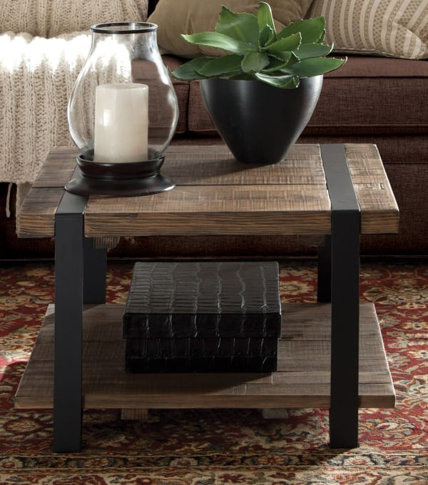 Modesto Reclaimed Wood Square Coffee Table