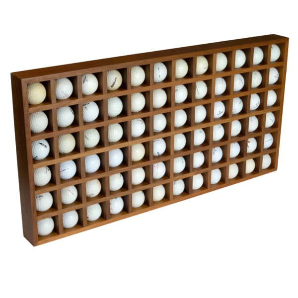Teak 72 Golf Ball Holder/Display Rack