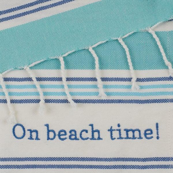Beach House Vibes Embellished Set of 4 Dishtowels