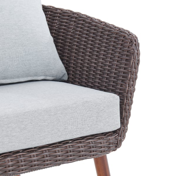 Athens All Weather Wicker Brown Set Of, Pier 1 Outdoor Furniture Cushions