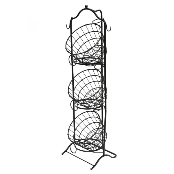 3 Tier Wire Basket with Removable Tilted Baskets