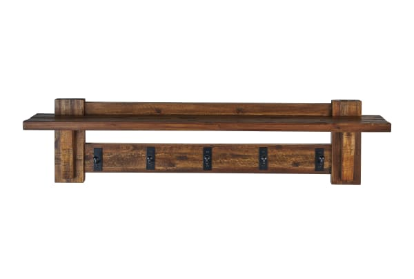 Durango Industrial Wood Coat Hook Entryway Shelf