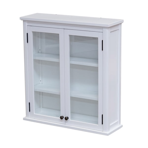 Dorset Wall Mounted with Glass Cabinet Doors Bath Storage Cabinet