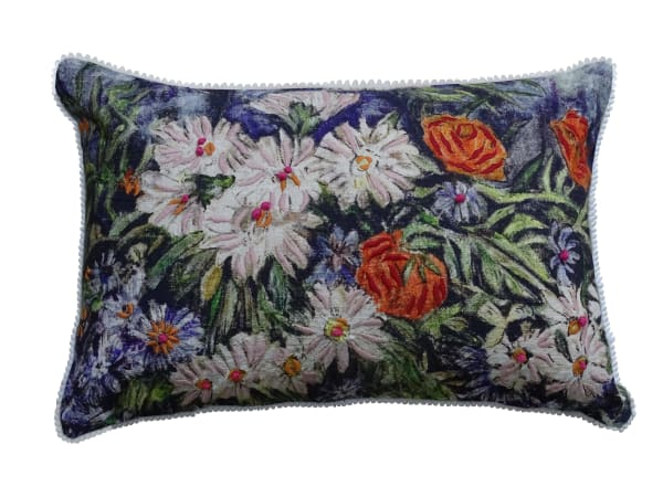 Hand Illustrated  Colorful Decorative Pillow