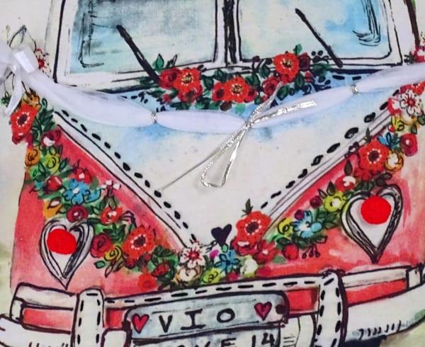 Decorative Throw Pillow for Sofa-Love Van