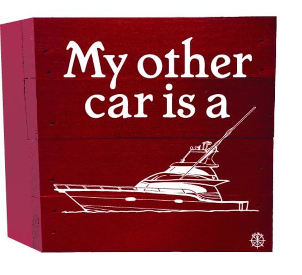 OTHER CAR IS A BOAT Wall Accent