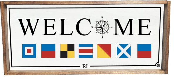 NAUTICAL FLAGS WELCOME Wall Accent
