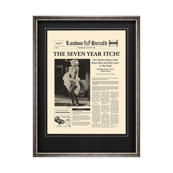 The Seven Year Itch Wrapped Canvas Wall Art