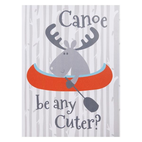 Kids Canoe Be Any Cuter Canvas Wall Art