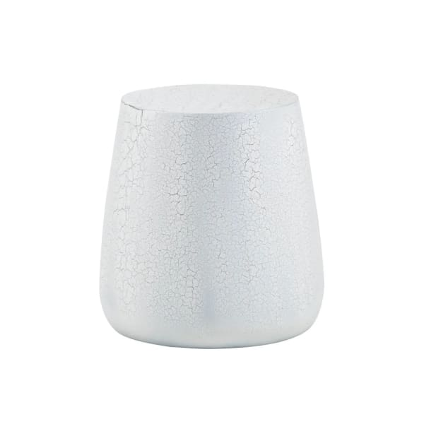 Rollo  White And Black Crackle Side Table
