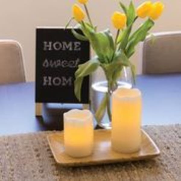 Deco Wick™ LED White 4x12 Pillar Candle