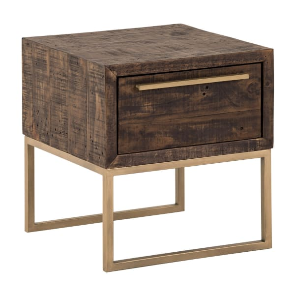 Monterey Wood Lamp Table in Smokey Taupe