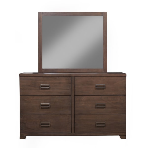 Savannah Wood Bedroom Mirror in Pecan
