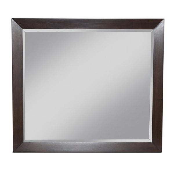 Flynn Mid Century Wood Bedroom Mirror in Walnut