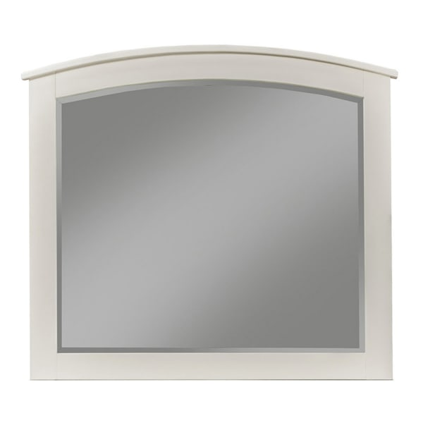 Baker Wood Mirror in White