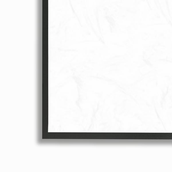 Mountain Hill Movements Abstract Layered Peaks Black Framed Wall Art, 12 x 12