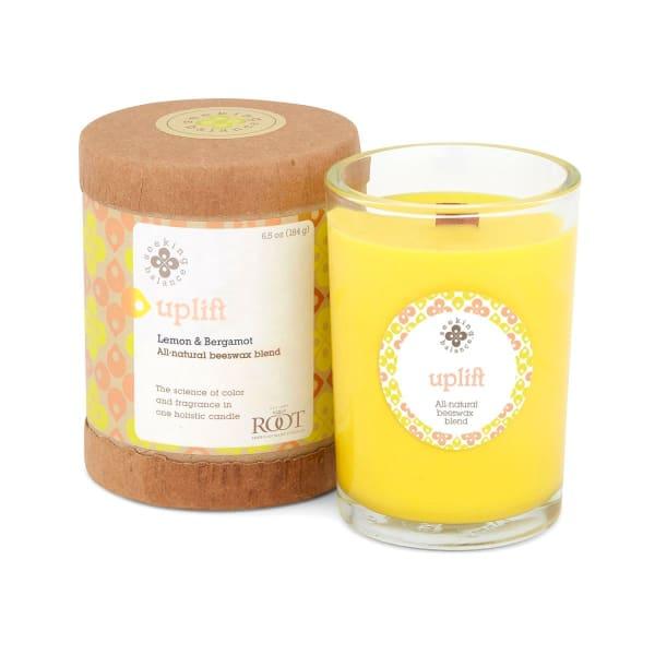 Root Candles Seeking Balance Original Spa Candle, 6.5 Once, Uplift: Lemon & Bergamot