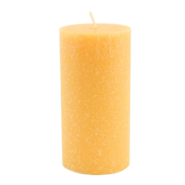 Root Candles 3 x 6-Inches Mandarin Unscented Timberline Pillar Candle