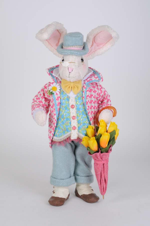 Karen Didion Floral Umbrella Bunny