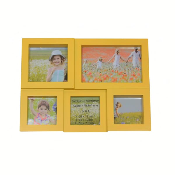 Yellow Photo Collage Frame