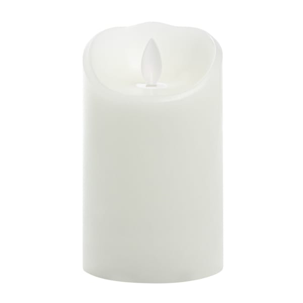 Expressions Flameless LED Wax Pillar Candle, 3