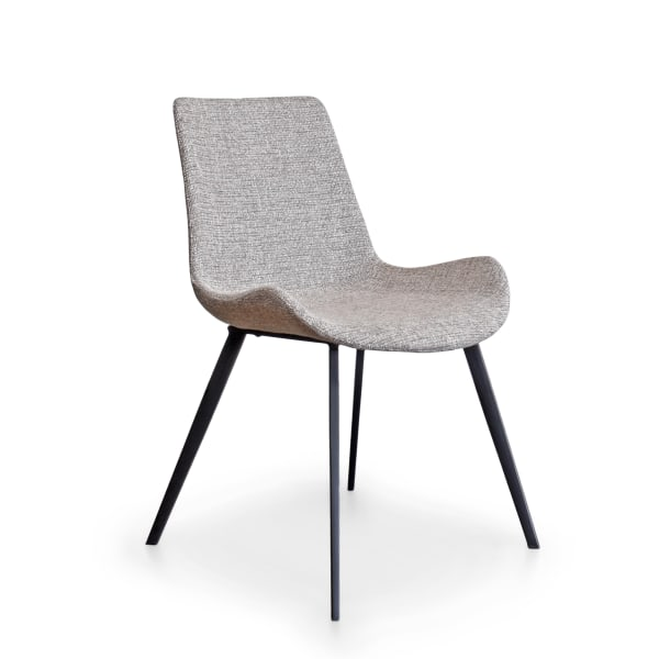 Modern in Sand Fabric Upholstered Set of 2 Dining Chairs
