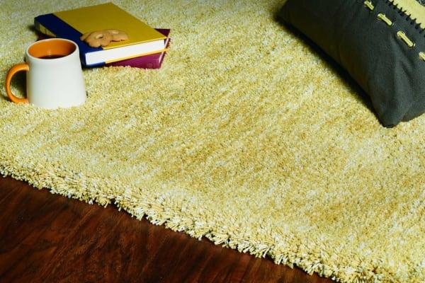 Shag Heather  Yellow Area Rug