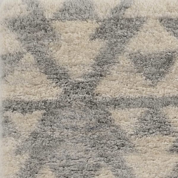 Soft Geometric Design Ivory and Grey Area Rug