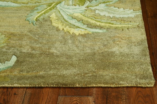 Wool Moss Area Rug